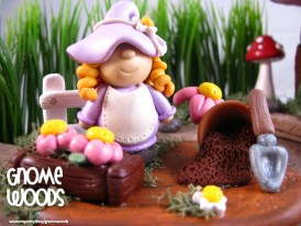 """OOAK """"Digging in the Dirt"""" Gnome Story Scene Sculpture by Jennifer Jeffs of Gnome Woods"""