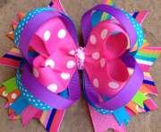 spring summer hair bow birthday