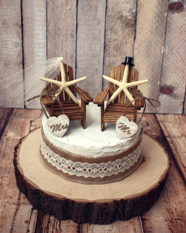adirondack chair cake topper folding rack diy starfish wedding chairs wood
