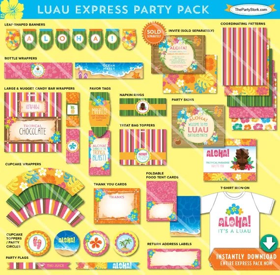 Luau Party Printable Cybergift Us