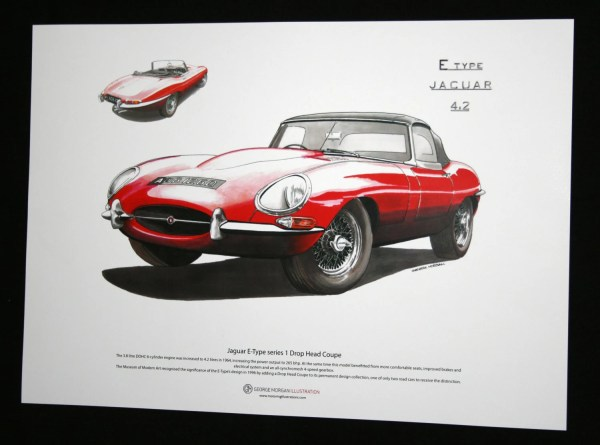 Jaguar -type Dhc Art Poster A3 Size Gmorganillustration