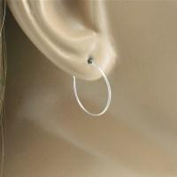 Hoop Earrings 3/4 18mm Silver Hoop Earrings Small