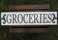 French Country Rustic Kitchen Wall Decor Groceries Pantry