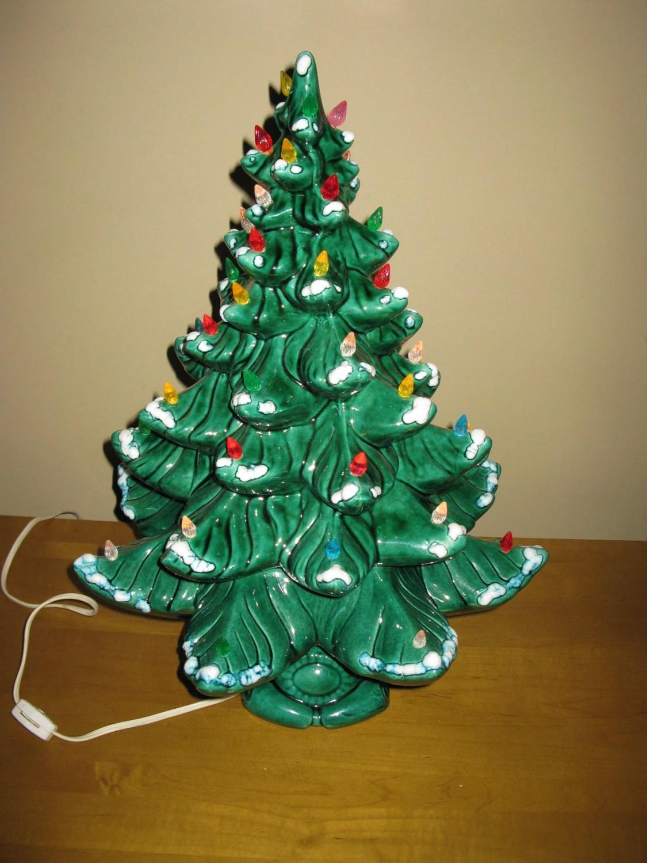 GORGEOUS LARGE 19 ceramic lighted Christmas tree