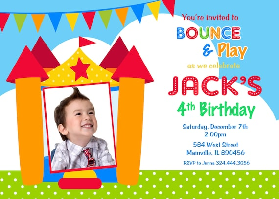 bounce house invitations