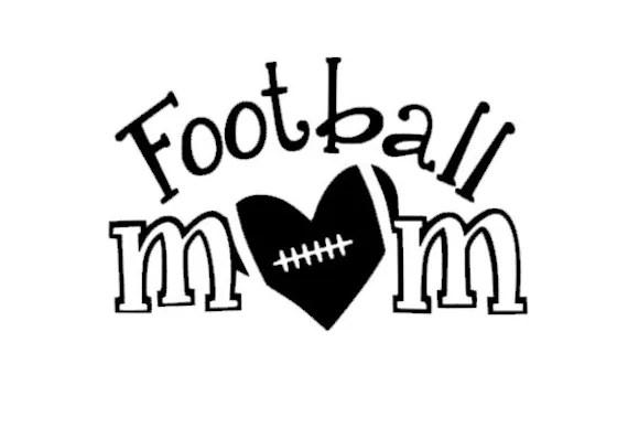 Items similar to Football Mom Car Decal Heart Love on Etsy