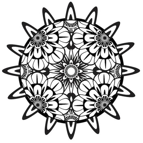 Items similar to Coloring Page, Mandala, Printable