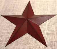 11 Large Metal Tin Barn Star Wall Decor Ship June