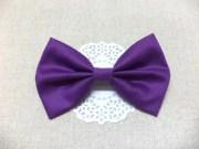 dark purple hair bow fabric