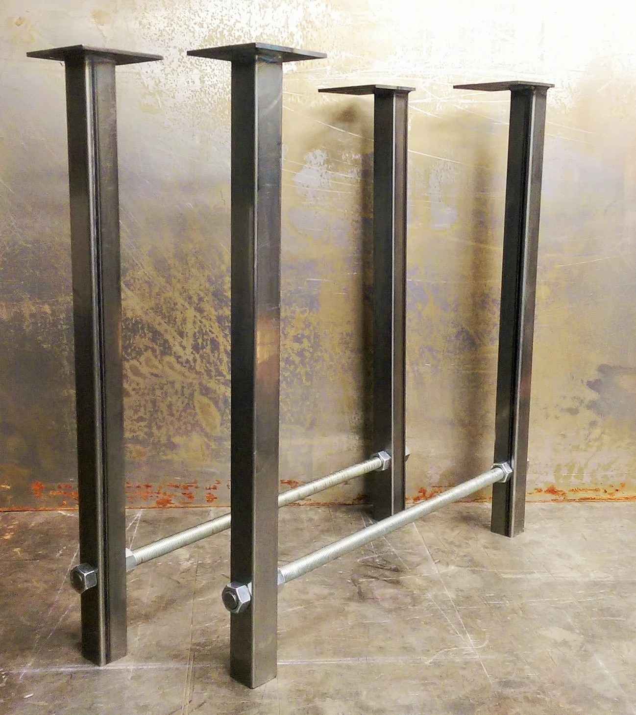 home depot canada kitchen island sliding shelves pieds de table en métal tige filetée