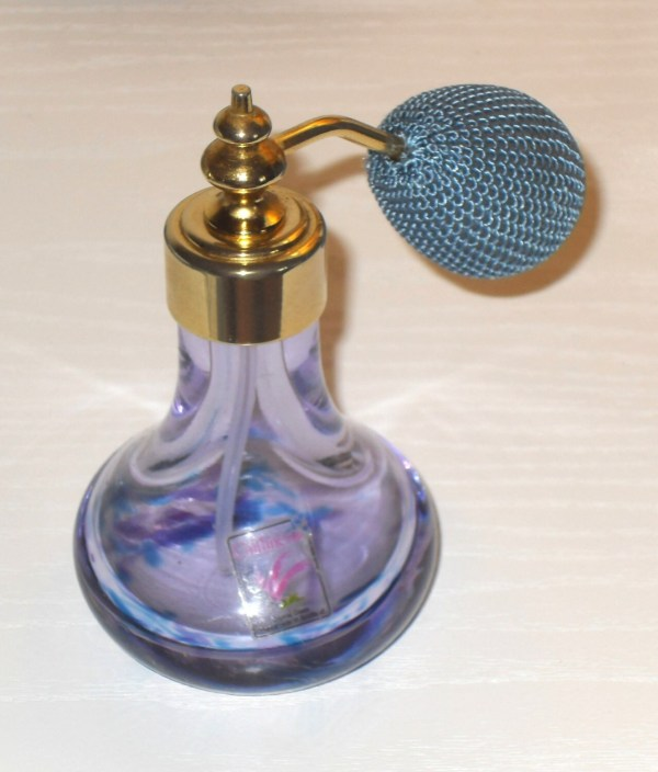 Bargain Caithness Purple Crystall Perfume Bottle