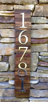 Decorative House Number Plaque 5's. Wooden Plaque