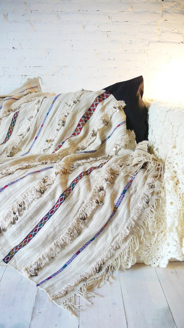 Handira Vintage Moroccan Wedding Blanket small