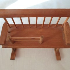 Rocking Chair Cradle Faux Bamboo Vintage Dollhouse Rocker Baby