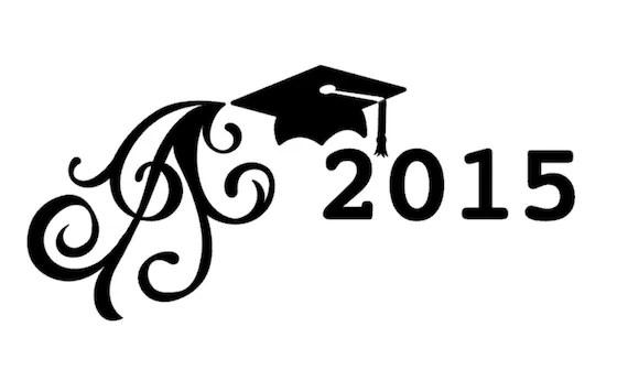 High School Senior College Graduate Vinyl Car by DessicaDupin
