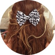 star wars hair inspired bow black