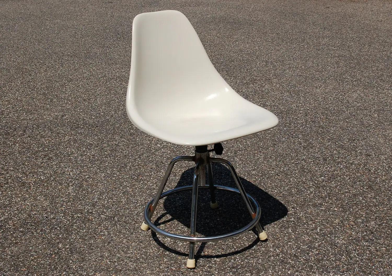 white shell chair pottery barn baby rocking fiberglass chrome swivel by