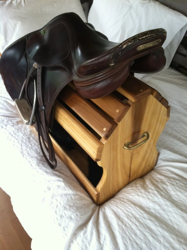 English Horse Saddle Rack