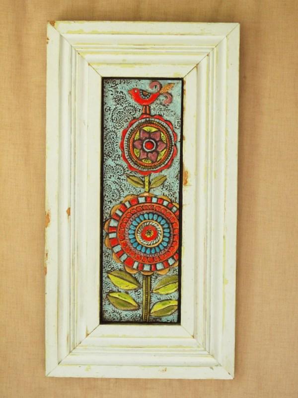 Mosaic Wall Art Tile Framed Lina'