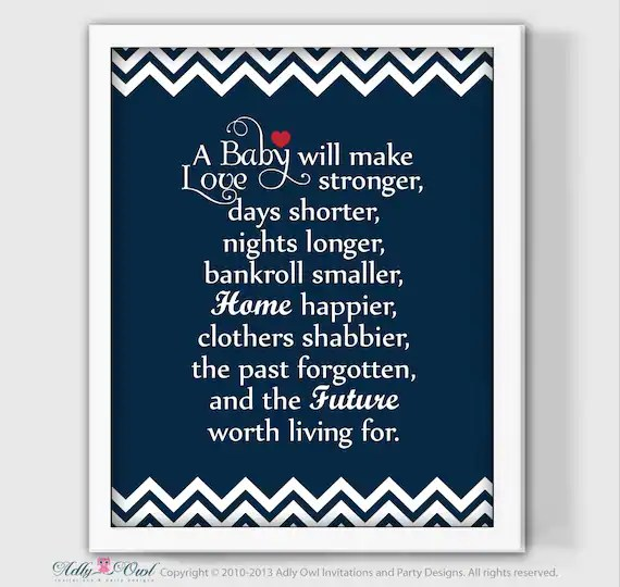 Items Similar To Nautical Nursery Wall Decor Quote A Baby
