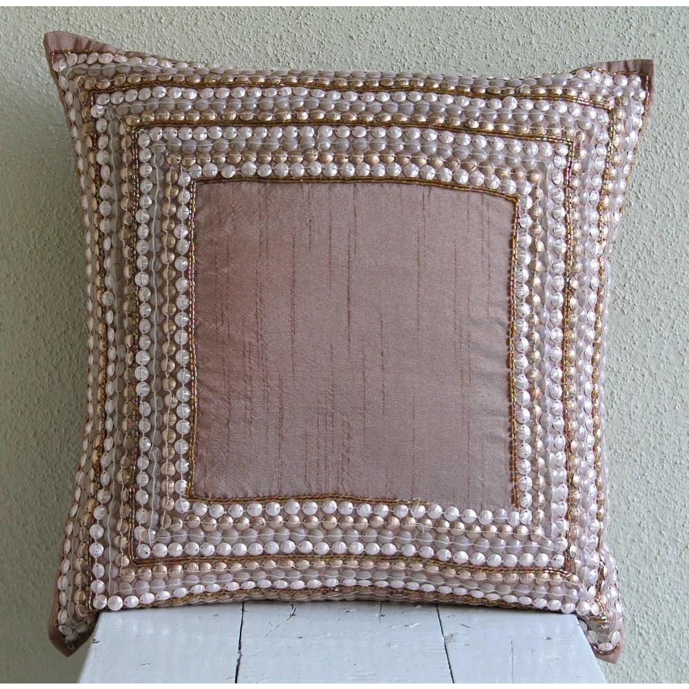 Decorative Throw Pillow Covers Euro Sham 26x26 Silk