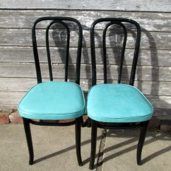Blue Bistro Chairs What Height Should A Chair Rail Go 2 Vintage Bentwood Cafe Dining Ice Cream
