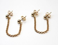 Double post Ball and chain Earrings