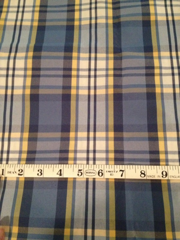Yellow White and Blue Home Decor Fabric