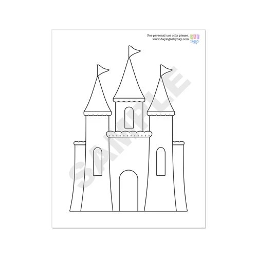 50% Off Sale PRINTABLE Princess Party Coloring Page