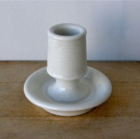 White Ceramic MATCH HOLDER & STRIKER Cafe Style Lovely Shape
