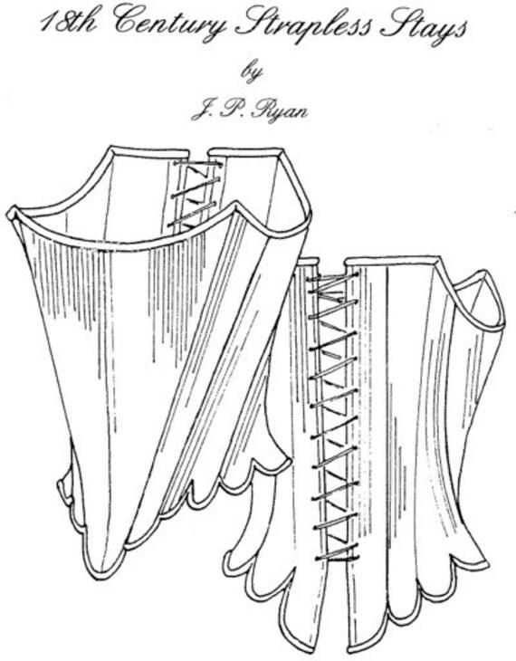 JPR08 JP Ryan 08 18th Century Strapless Stays Sewing