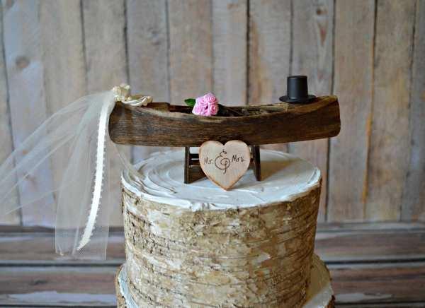 Wedding Cake Topper-canoe-boat-row