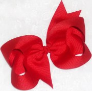 hair bow red christmas