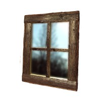 WINDOW PANE MIRROR Rustic Window Mirror Rustic Mirror Log