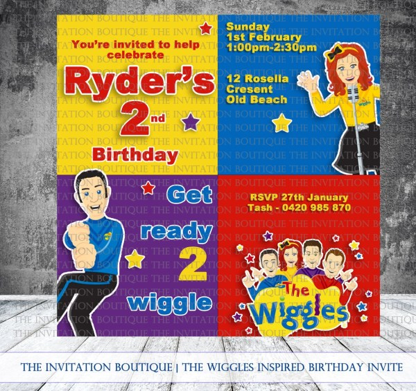 20 Wiggles Party Invitations Pictures And Ideas On Stem Education
