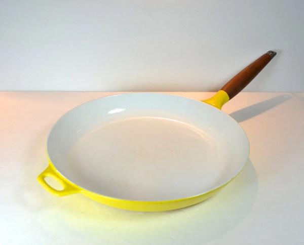 Copco Yellow 12- Enameled Cast Iron Skillet Teak