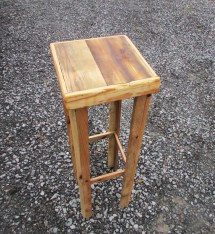 Rustic Plant Stand Table Solid Wood Tall