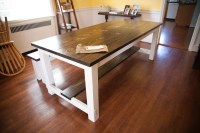 8' Farmhouse Table with Stretchers Farmhouse Dining by ...
