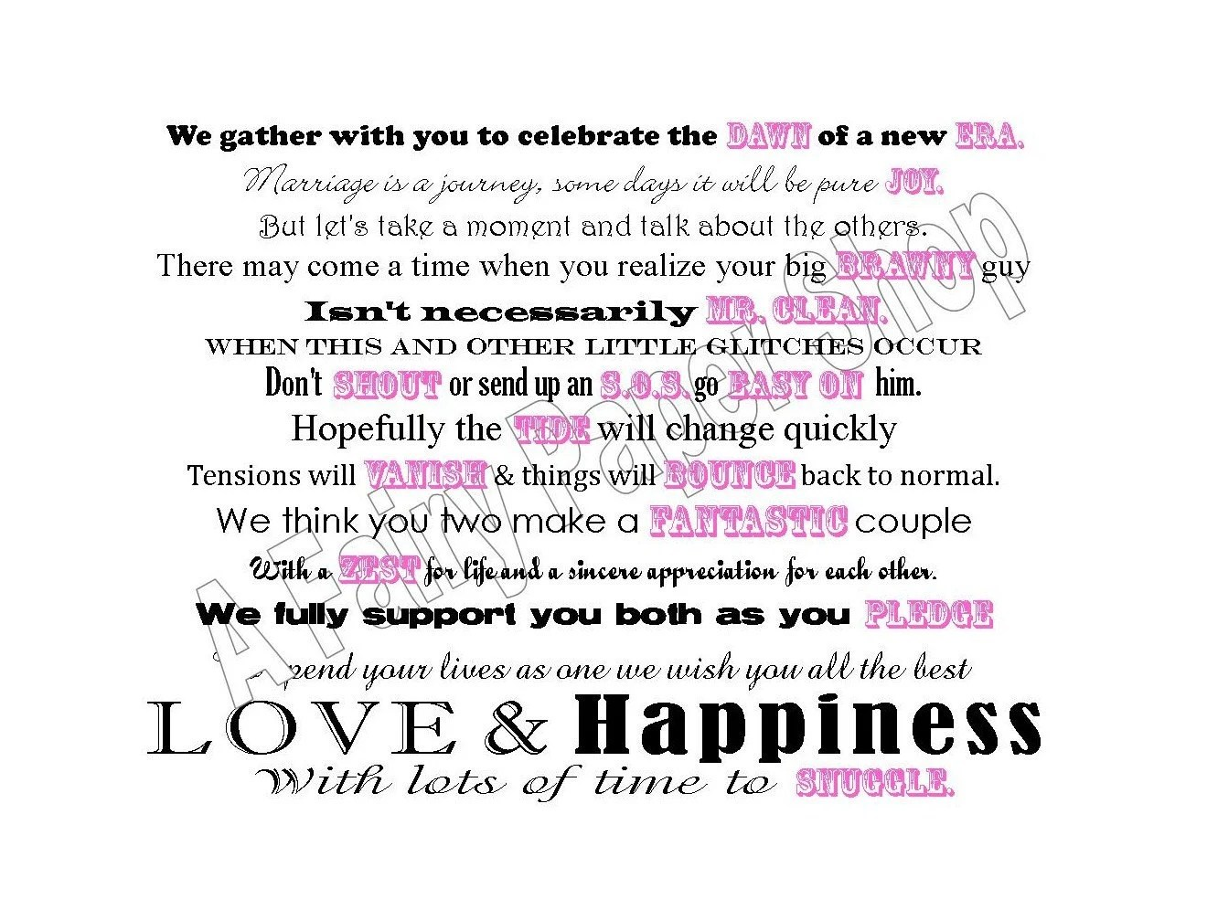 Cleaning Products Basket Poem For Bridal Shower By