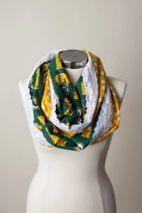 Green Bay Packers NFL Infinity Scarf by ThriftyGirlDesign ...