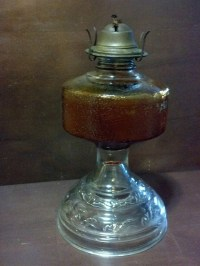 Eagle Oil Lamp // oil lamp with amber glass // by