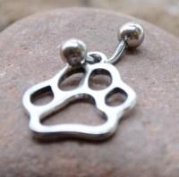 Paw Body Jewelry Body Piercing Navel Belly by