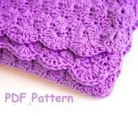 Crochet shell stitch baby blanket pattern Easy crochet for
