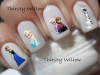 Frozen Nail Decals by ThirstyWillow on Etsy