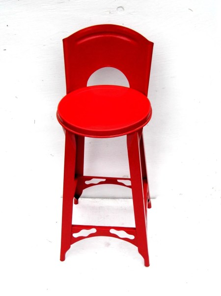 red kitchen stools Vintage Red Metal Kitchen Stool Retro Red Kitchen Decor Mid