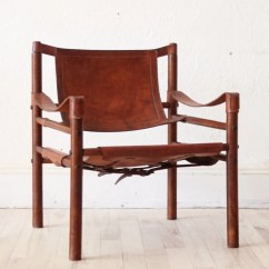 Leather Safari Chair Reclining Accent Chairs Arne Norell Beechwood