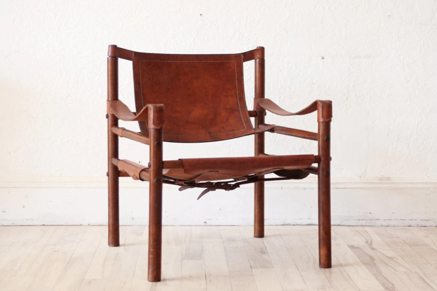 Safari Chair Arne Norell Safari Chair Leather Beechwood