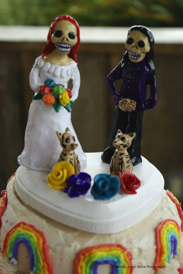Items similar to Day of the Dead Same Sex Lesbian Wedding Cake Topper Polymer Clay topper