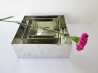 Square Baking Tins three tier wedding cake pan set of 3