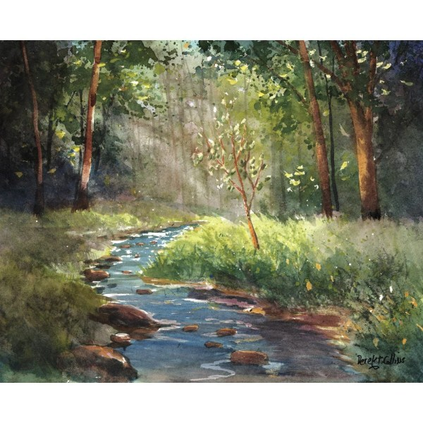 watercolor landscape giclee canvas